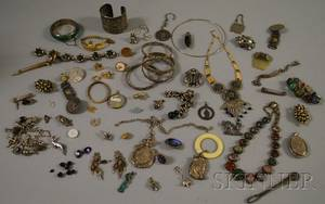 Group of Mostly Sterling Silver Tourist and Ethnic Jewelry