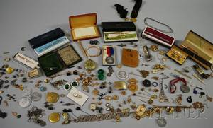 Large Group of Pens and Mostly Costume Jewelry
