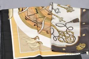 Two Silk Scarves Hermes