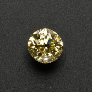 Fancy Vivid Yellow Diamond Solitaire
