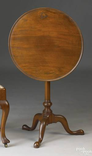 Chester County Pennsylvania Queen Anne mahogany candlestand ca 1760