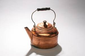 Copper Teapot with Wooden Handle