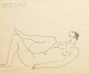 Henri Matisse French 18691954 Nu couch jambe replie tude de jambes