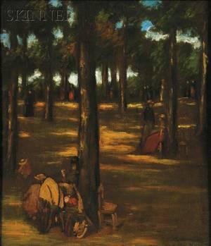 Robert Henri American 18651929 Au Bois de Vincennes At the Forest Vincennes