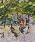 Konstantin Alexeevitch Korovin Russian 18611939 Study of a Caf in Paris