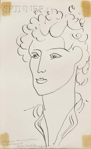 Henri Matisse French 18691954 Tete de Femme 1942