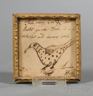 Small Framed Reward of Merit with Bird Motif