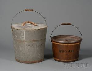 Two Painted Buckets