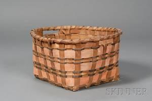 Painted Woven Splint Basket