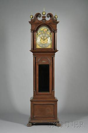Nine Tubular Bell Chime Clock by Waltham Clock Company