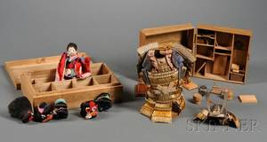 Group of Japanese Doll Festival Items
