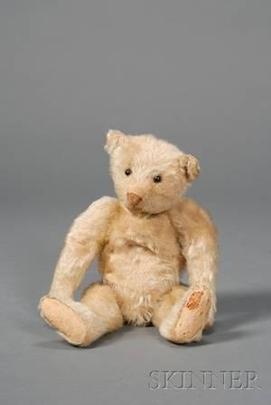 Small Early Steiff Blonde Mohair Teddy Bear