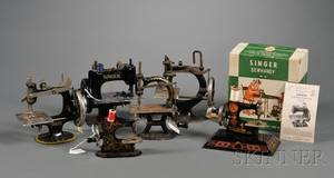 Six Assorted Toy Sewing Machines