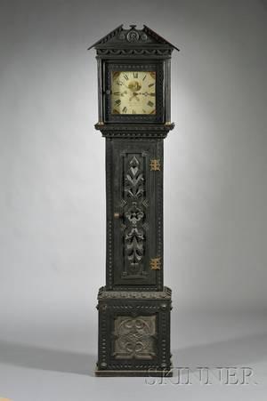 Carved Oak Longcase Clock by Thomas Dutton