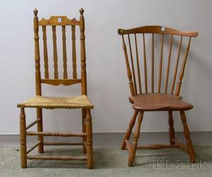 Windsor Fanback Side Chair and a Bannisterback Side Chair