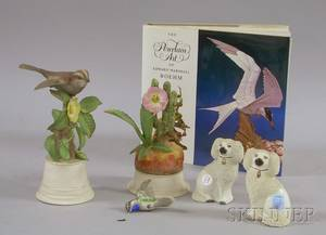Two Boehm Porcelain Bird Figures and Book The Porcelain Art of Edward Marshal Boehm