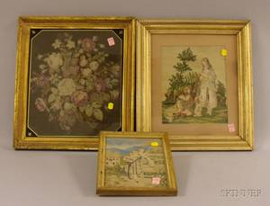 Five Framed 19th and 20th Century Decorative Items