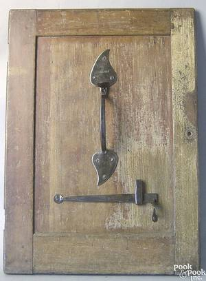 New England wrought iron Suffolk latch and bar latch ca 1800