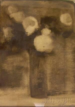 Two Framed Works on Paper Depicting Floral Still Lifes