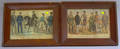 Lot of Eight Framed Small Folio Currier  Ives Portrait Subjects