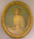 Oval Framed Oil on Canvas Portrait of a Woman by Chester C Hayes American 20th Century