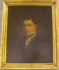 Framed 19th Century American Oil on Board Portrait of a Man
