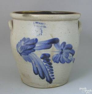 Fourgallon stoneware crock 19th c