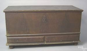 Pennsylvania painted pine blanket chest late 18th c