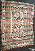 Pennsylvania jacquard coverlet 19th c
