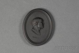 Wedgwood Black Basalt Portrait Medallion of Seneca