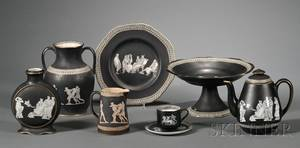 Group of Pratt Old Greek Earthenware Articles