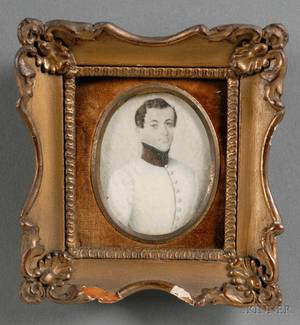 Continental Portrait Miniature on Ivory of a Young Gentleman