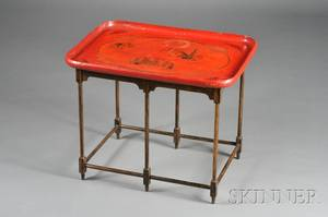 Victorian Papiermache Tray on Stand