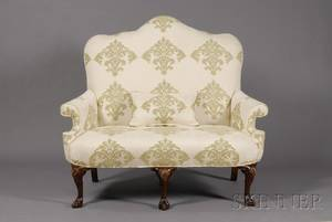 Early Georgian Style Mahogany Settee