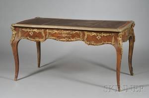 Louis XV Style Bronze Mounted Bureau Plat