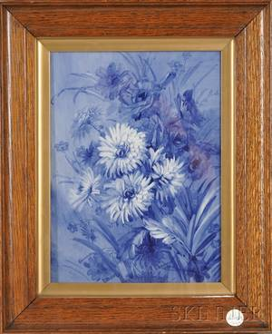 Framed Handpainted Porcelain Plaque