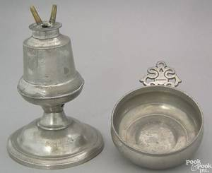 American pewter 2wick alcohol burner 19th c