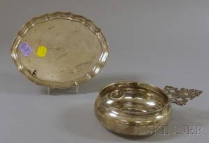 Durgin Sterling Silver Porringer and a Gorham Sterling Silver Salver
