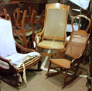 Eight Victorian Parlor Chairs and Rockers
