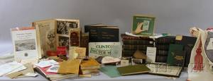 Sixteen Clinton Worcester Lancaster and Middlesex County Massachusetts Related Books and a Collection of 20th Century Clinton Mas