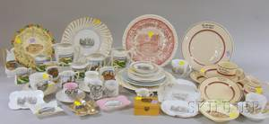Collection of Mostly Early 20th Century Clinton Massachusetts Souvenir China and Restaurant Ware