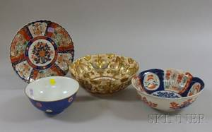 Three Asian Porcelain Bowls and a Dish