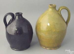 Pennsylvania redware jug 19th c