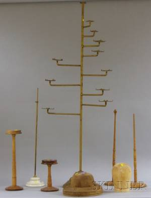 Group of 19th and Early 20th Century Hat Stands Displays and Forms