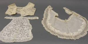 Group of 18th19th Century Lace or Lace Embellished Accessories