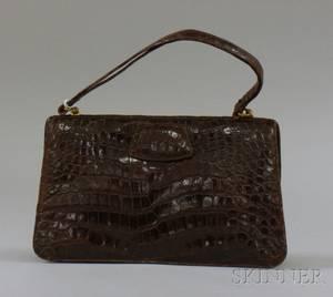 Vintage 1950s Alligator Handbag