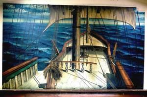 Bill Barnes Original Artwork of a Sailing Ship