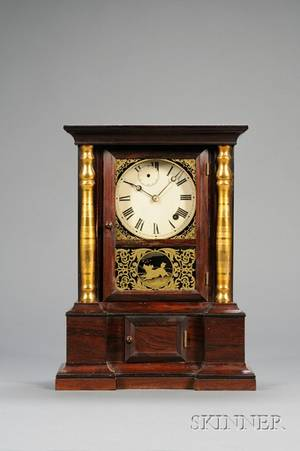 Rosewood London Mantel EightDay Fusee Shelf Clock by Atkins Clock Company