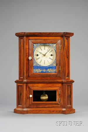 Rosewood Parlor No 1 30Day Fusee Shelf Clock by The Atkins Clock Company