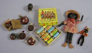 Ten Black Character Sewing and Memorabilia Articles